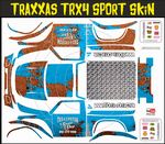 Blue Rusted Speed Shop Themed Vinyl SKIN Kit & Stickers Fits R/C Traxxas TRX4 Sport Rock Crawler